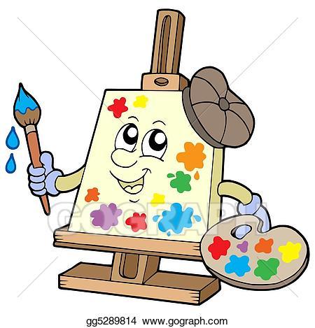 Drawing canvas gg . Artist clipart cartoon