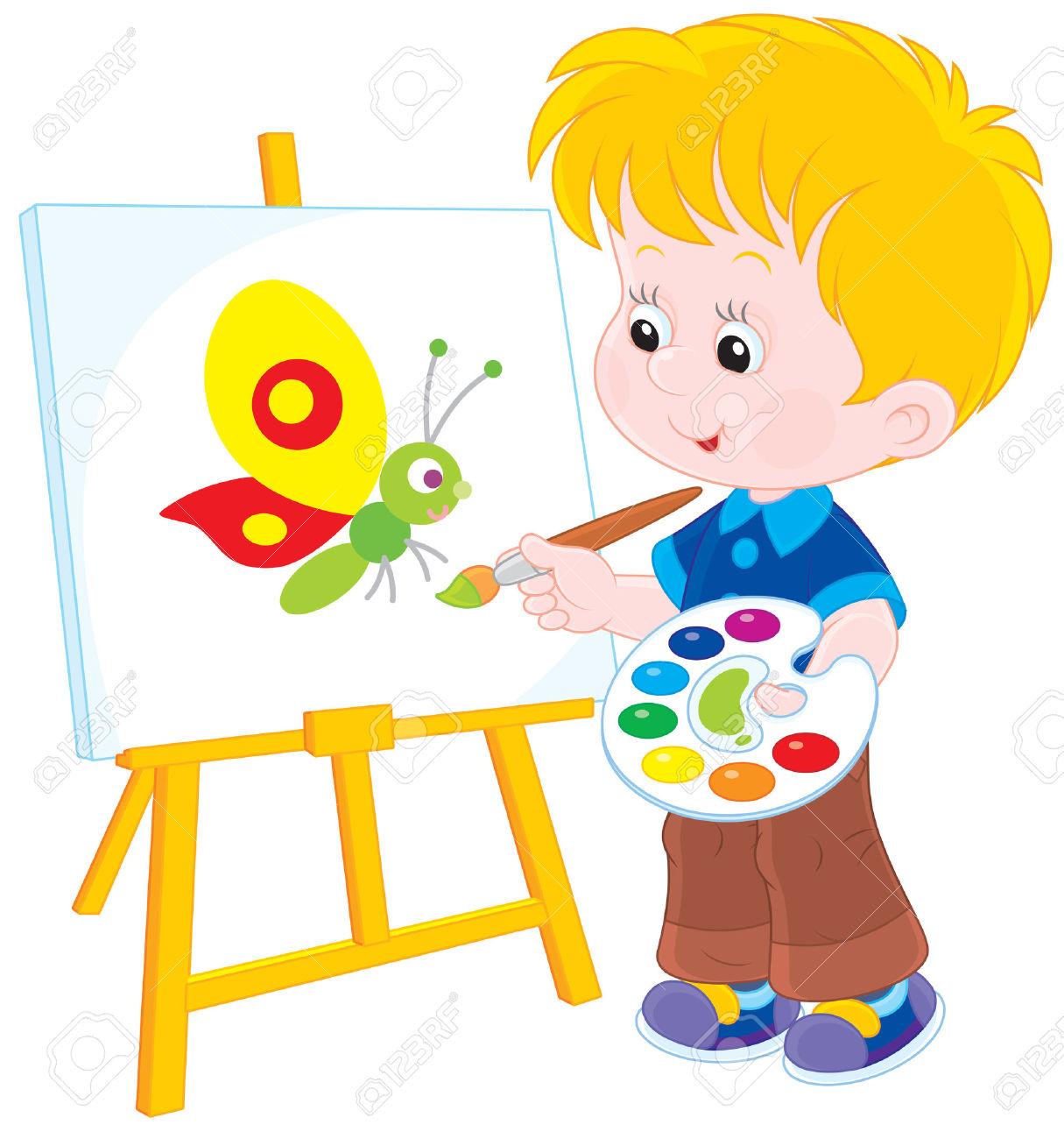Artist clipart child artist. Drawing clip art at