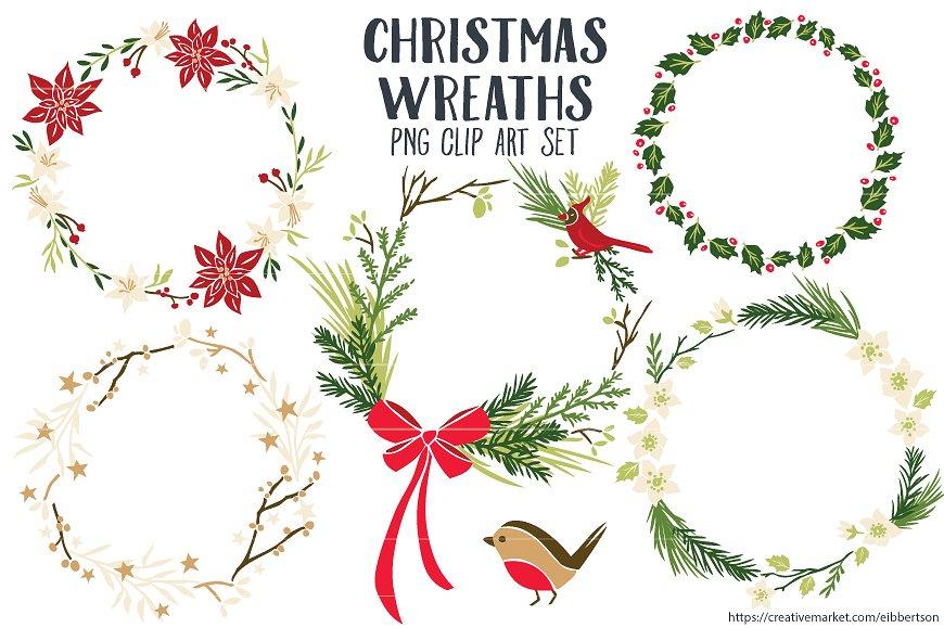 Artist clipart christmas. Wreaths clip art png