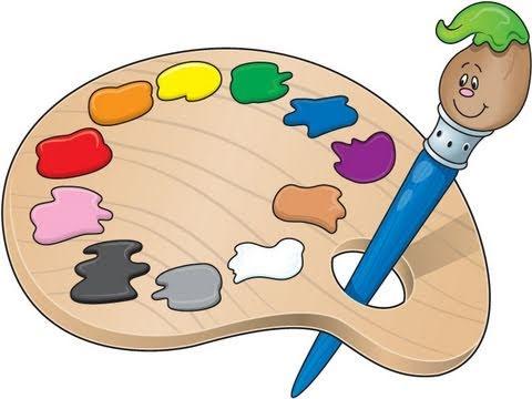 How to make a. Artist clipart colour palette
