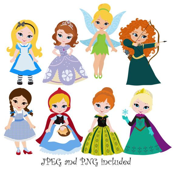 Artist clipart cute. Princess digital clip art