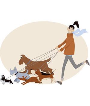 Artist clipart dog. Clip art of walker