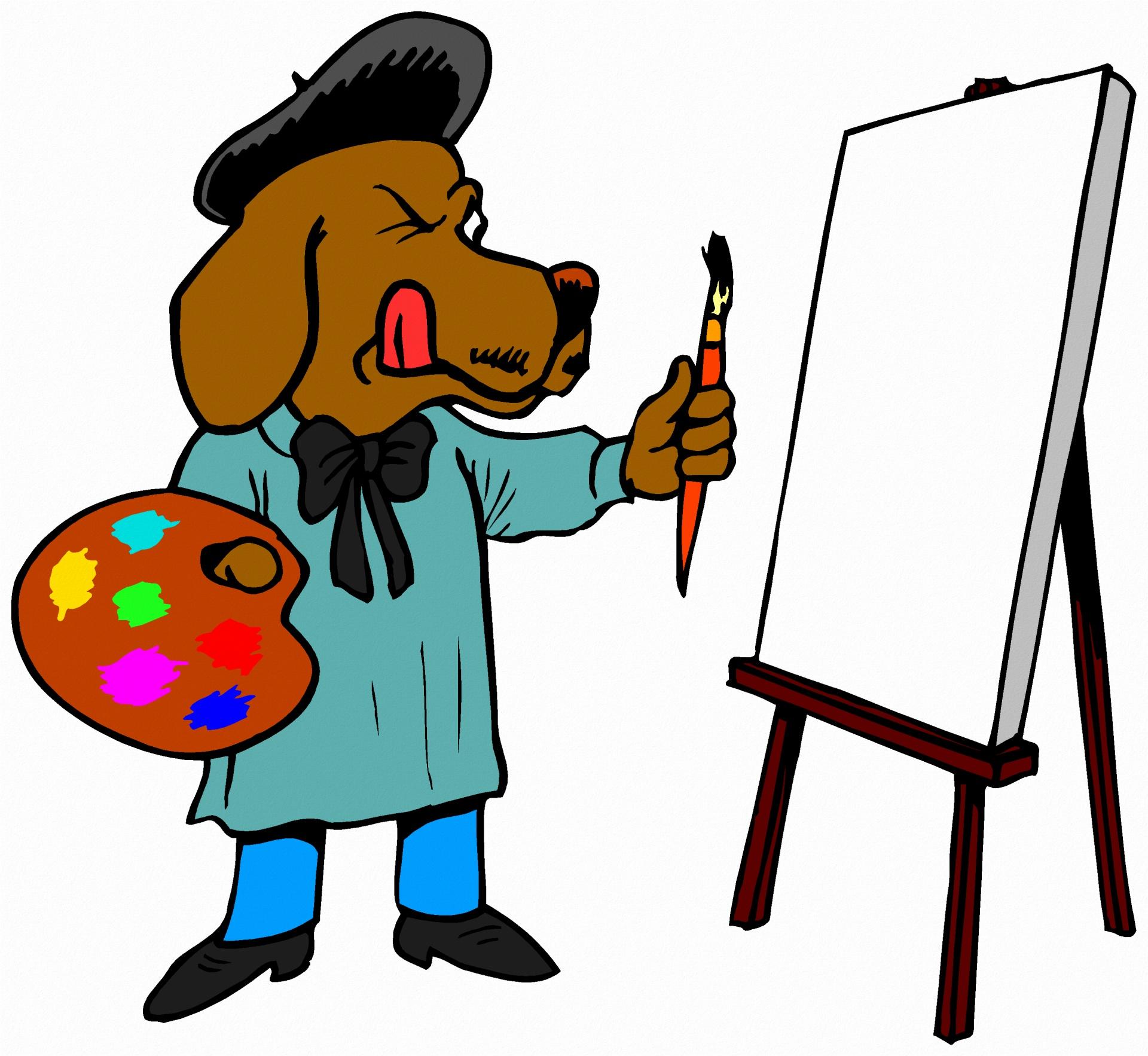 Free stock photo public. Artist clipart dog