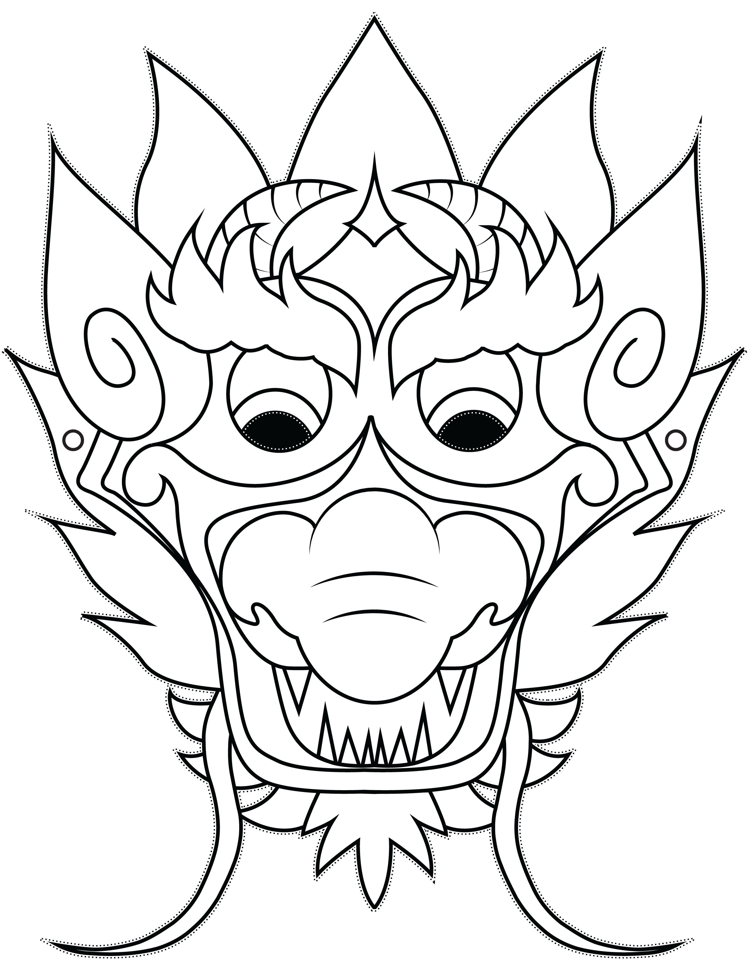 Artist clipart easy. Dragon mask simple and