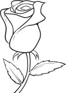 Flowers to draw best. Clipart roses easy