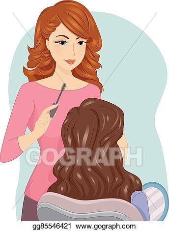 Vector art girl makeup. Artist clipart female artist