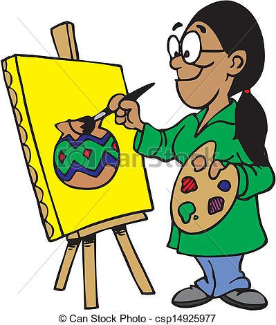 Art clipart artwork. Female artist