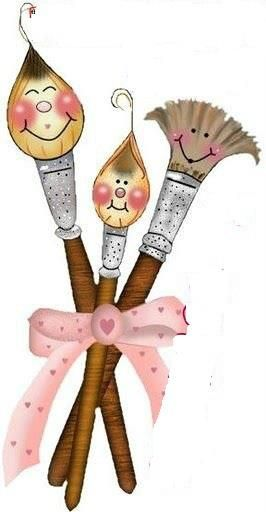 Brush clipart cute. Paint brushes art arts