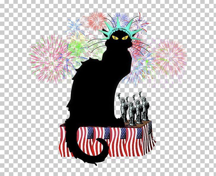 Le chat noir design. Artist clipart fine art