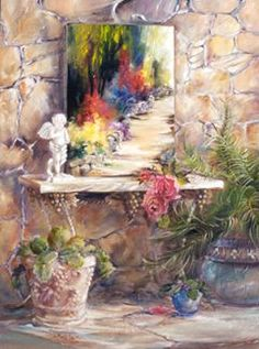 Artist clipart fine art. Marty bell potpourri by