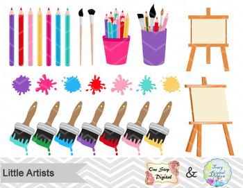 Artist clipart girl artist. Digital little clip art