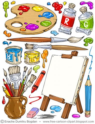 Free cartoon stock on. Artist clipart illustration