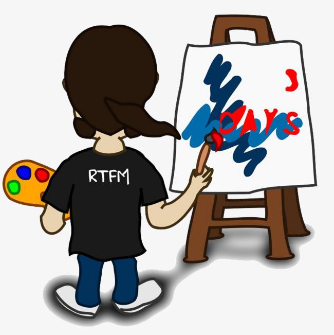 Artist clipart male artist. Boy painter cartoon png