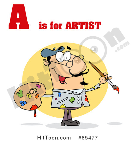 Artist clipart male artist. A is for royalty