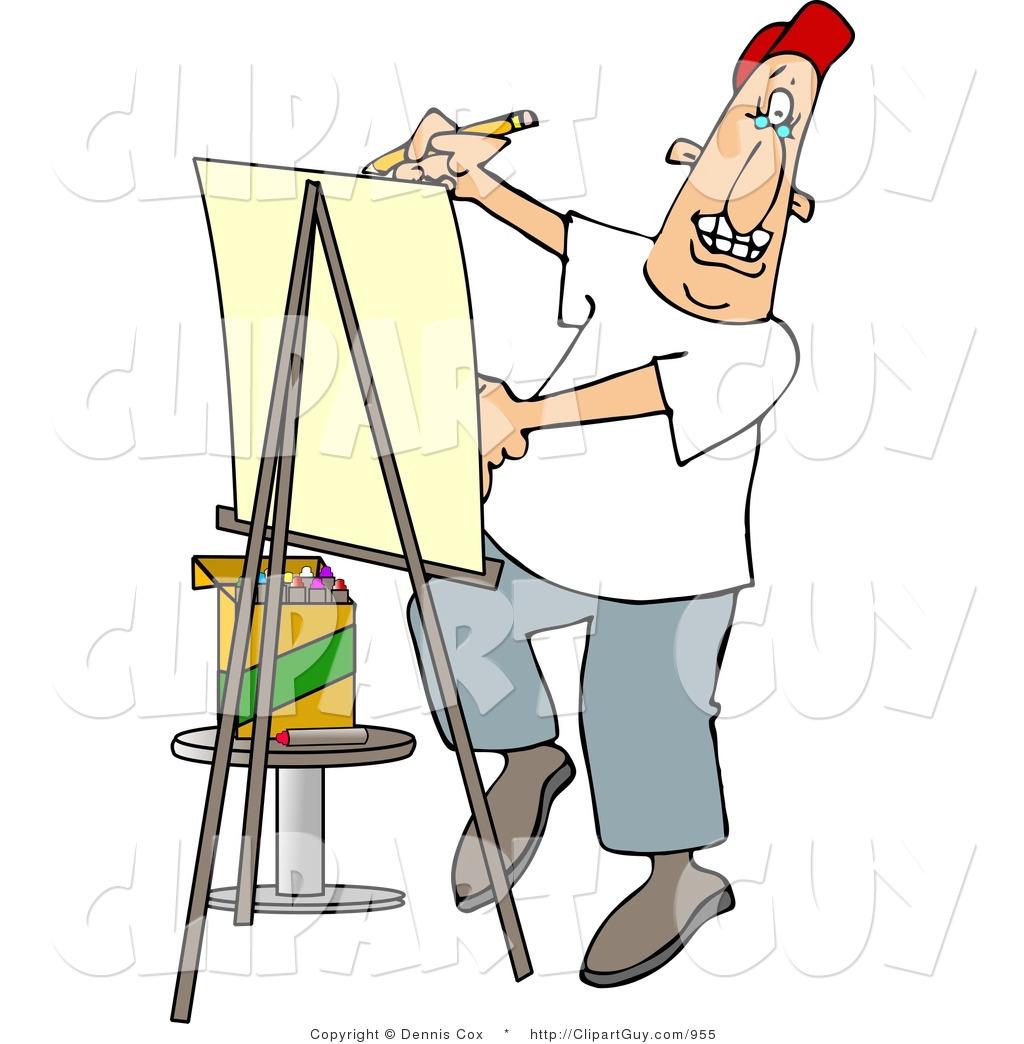 Artist clipart male artist. Clip art of a