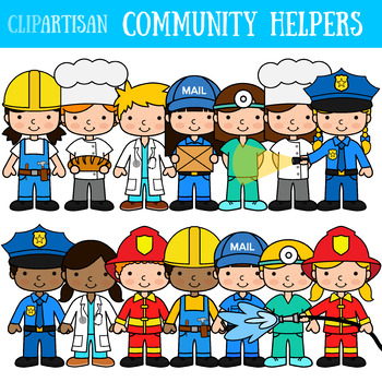 Careers clipart community helper. Occupations worksheets teaching resources