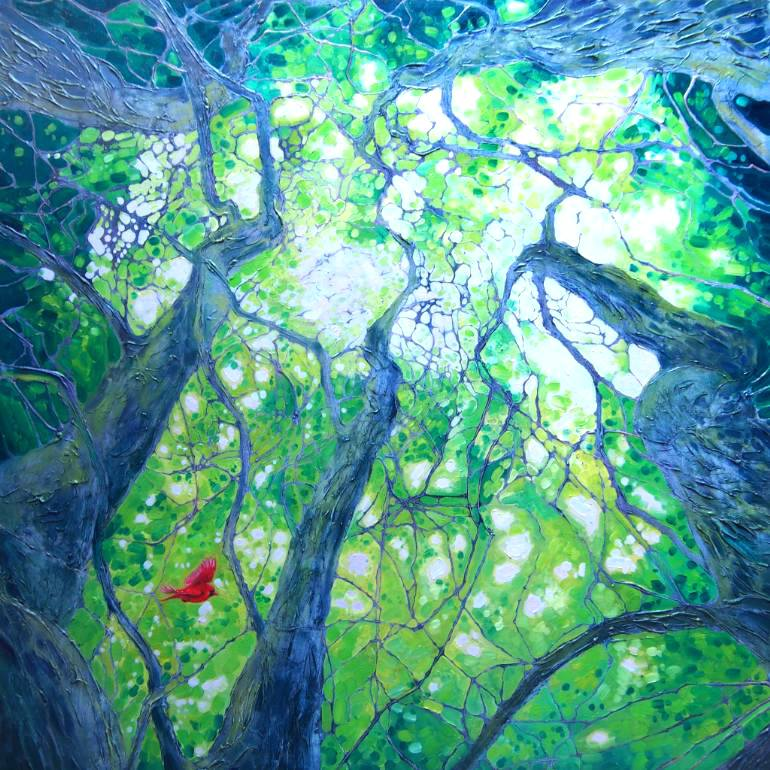 Artist clipart oil painting. Forest landscape art gill