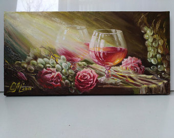 Artist clipart oil painting. Red rose etsy wine