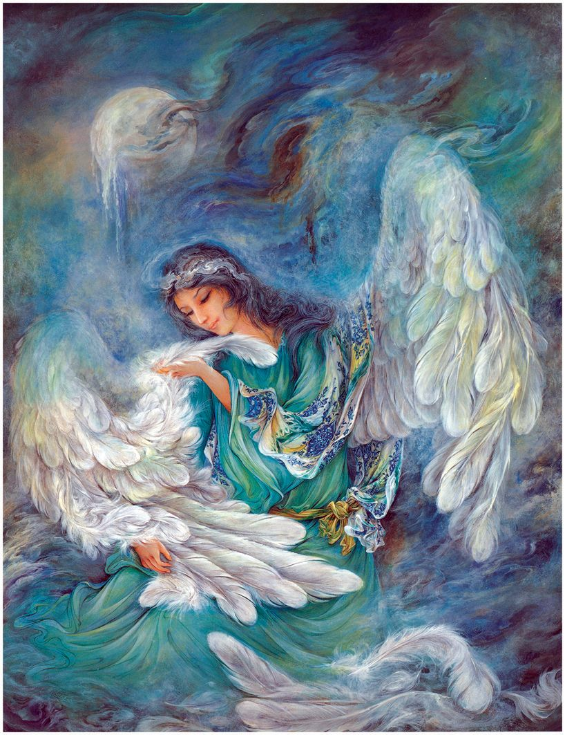 Artist clipart oil painting.  mahmoud farshchian