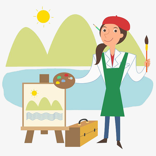 Artist clipart painter. Painting sketch png image