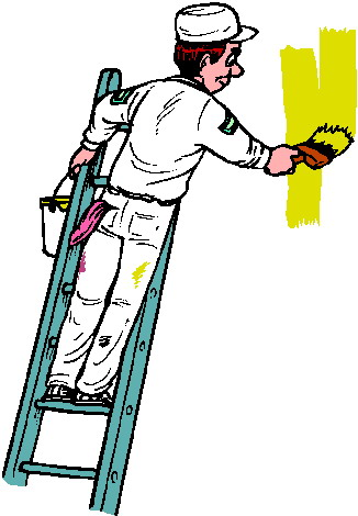 Artist clipart painter. Clipground house painting free