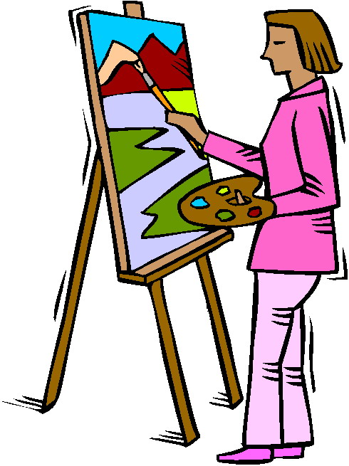 Free panda images. Artist clipart painter