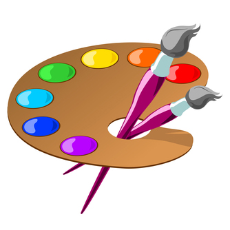 Free . Artist clipart palette