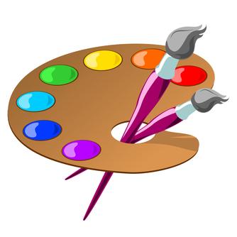 Free cliparts download clip. Artist clipart palette