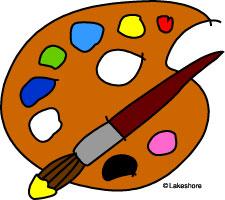 Artist clipart pallet. Palette panda free images