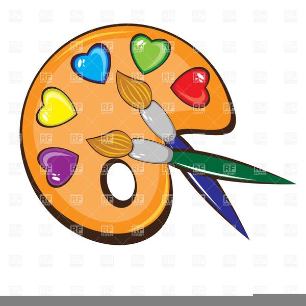 Paint free images at. Artist clipart pallet