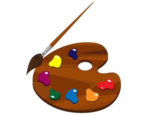 Free paint palette cliparts. Artist clipart pallet