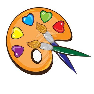 Artist palette panda free. Brush clipart clip art