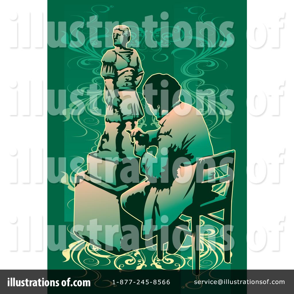 Illustration by mayawizard royaltyfree. Artist clipart sculptor
