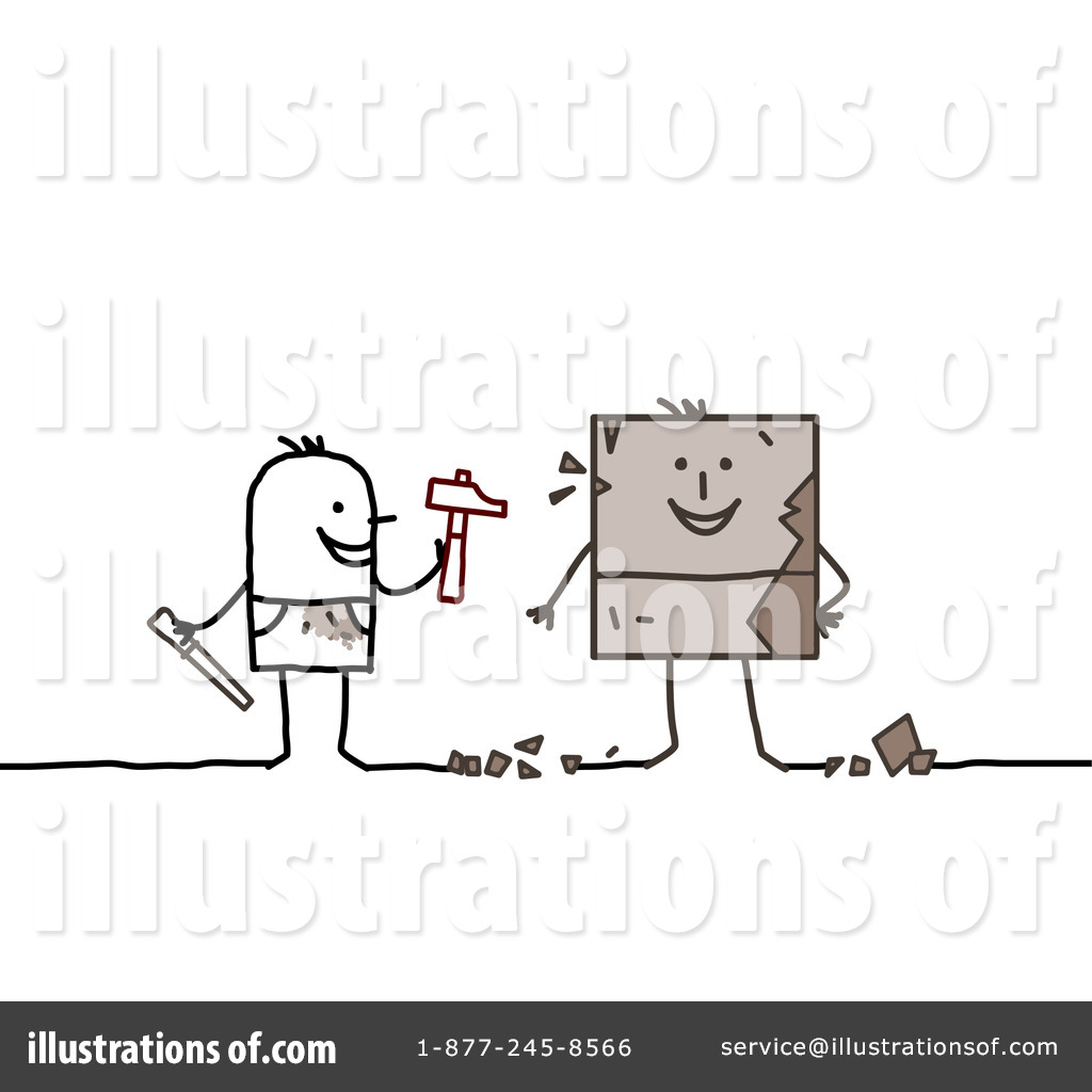 Sculpture illustration by nl. Artist clipart sculptor