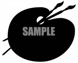 Of an artists pallet. Artist clipart silhouette