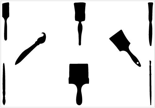 Paintbrush . Artist clipart silhouette