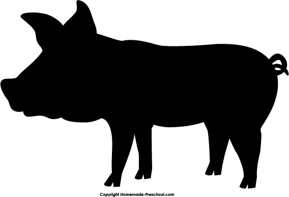 Free pig. Artist clipart silhouette