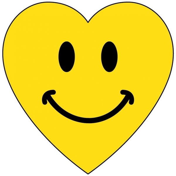 Heart pencil and in. Artist clipart smiley face