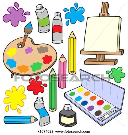 Arts . Artist clipart visual art