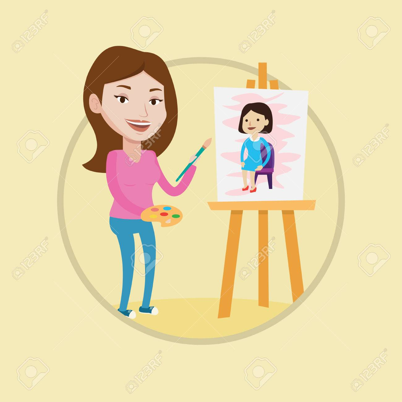 Artist clipart woman artist. Free drawing download clip