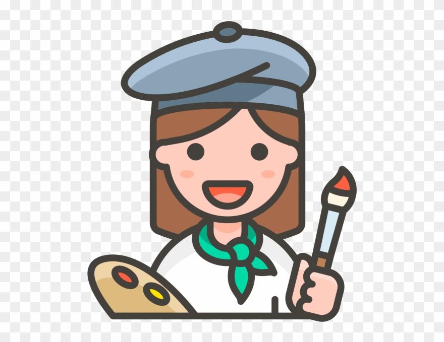 Artist clipart woman artist. Painter emoji icon