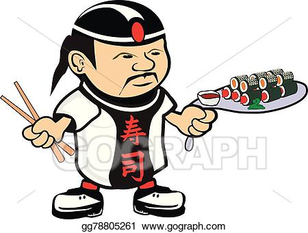 Asian clipart. Eps vector chef cook