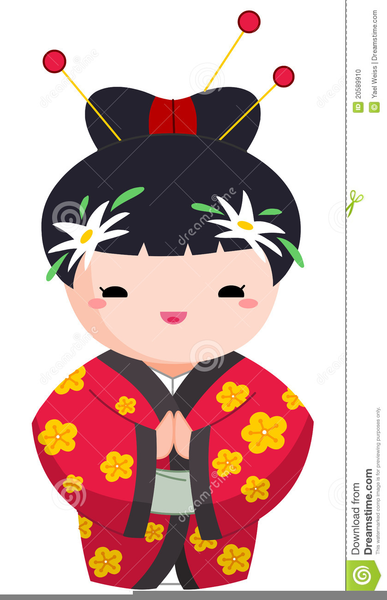 Asian clipart. Cute girl free images