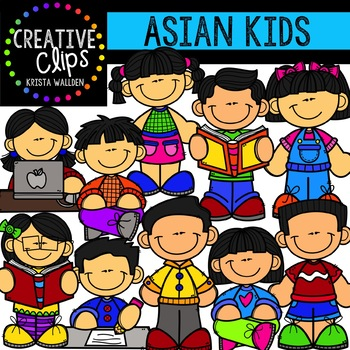 Kids creative clips . Asian clipart asian child