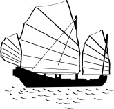 Customize silhouettes menu backgrounds. Asian clipart boat