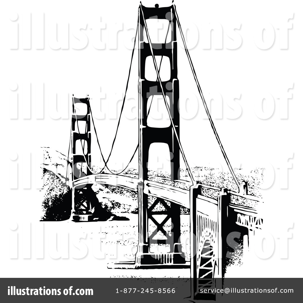 Bridge clipart illustration. By prawny vintage royaltyfree