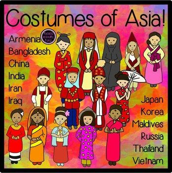 Costumes clip art asia. Asian clipart country asian
