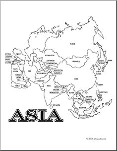 Asian clipart country asian. Printable map of africa