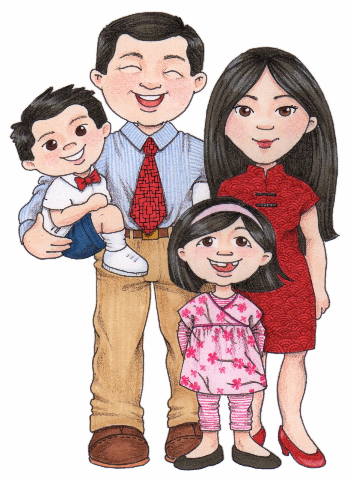 Asian clipart family member.  chinese