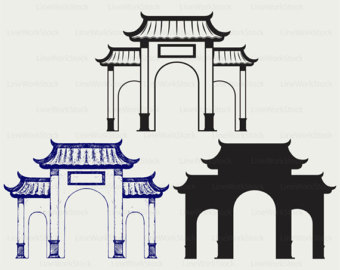 Etsy chinese svgchinese clipartchinese. Asian clipart gate
